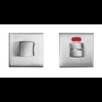 1291/115RFV-RW toiletgarnituur chrome met rood/wit indicator