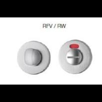 911/114RFV-RW toiletgarnituur met rood/wit indicator chrome