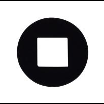 Krukring zwart 18,3 mm t.b.v. zwarte deurkrukken van GPF Bouwbeslag