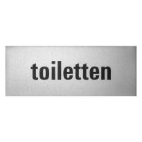 GPF0401.80.0005 deurbordje 'Toiletten' rechthoekig, 50x130x0,5 mm