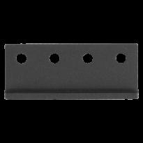 GPF0584.61 koppelstuk rails t.b.v. schuifdeursysteem zwart