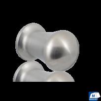 GPF5540 RVS meubelknop rond