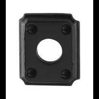 GPF6100.02 rozet 59x48x6mm smeedijzer zwart