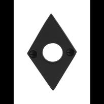 GPF6100.07 rozet 83x52x4mm smeedijzer zwart