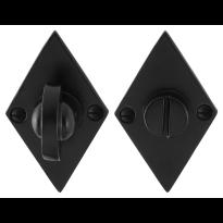 GPF6910.07 toiletgarnituur 83x52x4mm stift 8mm smeedijzer zwart