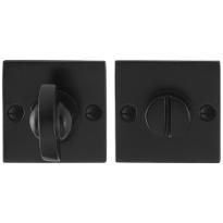 GPF6910.08 toiletgarnituur 52x52x4mm stift 8mm smeedijzer zwart
