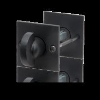 GPF6911.08 toiletgarnituur 52x52x4mm stift 5mm smeedijzer zwart