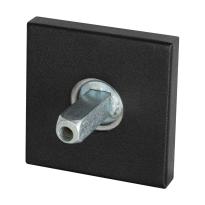 GPF8100.02.400 rozet 50x8mm zwart met vastgelaste knopvastzetter