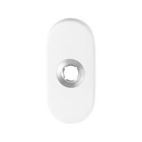 GPF8100.44 wit ovale rozet 70x32x10mm