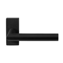 GPF8210.01 zwarte deurkruk Toi op rechthoekige rozet
