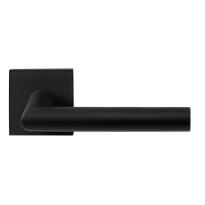 GPF8210.02 zwarte deurkruk Toi op vierkante rozet