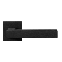 GPF8216.02 zwarte deurkruk Zaki+ op vierkante rozet