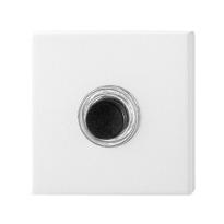 GPF8826.42 voordeurbel vierkant 50x50x8 mm wit