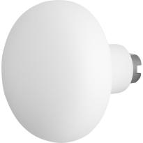 GPF8849.62 Paddenstoel knop veiligheidsschilden vast wit 65mm