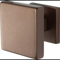 GPF9825.A2 vierkante voordeurknop op rozet Bronze blend 70x70 mm
