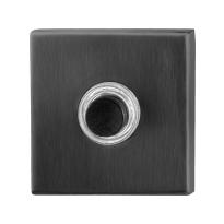 GPF9826.02P1 deurbel vierkant 50x50x8 mm PVD antraciet