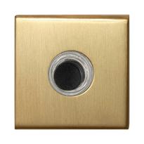 GPF9826.02P4 deur bel vierkant 50x50x8 mm PVD mat messing