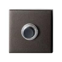 GPF9826.A1.1102 vierkante voordeurbel 50x50x8 mm Dark blend