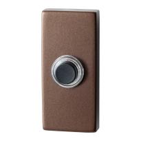 GPF9826.A2.1101 rechthoekige deurbel 70x32x10 mm Bronze blend
