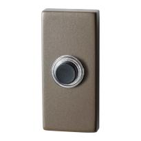GPF9826.A3.1101 rechthoekige deurbel 70x32x10 mm Mocca blend
