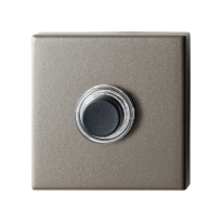 GPF9826.A3.1102 vierkante voordeurbel 50x50x8 mm Mocca blend