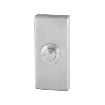 GPF9827.01 deur bel rechthoekig 70x32x10 mm RVS geborsteld