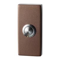 GPF9827.A2.1101 deurbel rechthoekig 70x32x10 mm Bronze blend