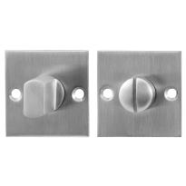 GPF0904.08 toiletgarnituur 50x50x2mm stift 5mm RVS geborsteld
