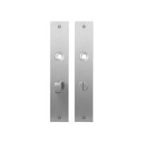 GPF1100.26 plaatschild rechthoekig WC63/8 normale knop RVS geborsteld