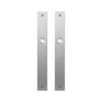 GPF1100.28 plaatschild rechthoekig blind RVS geborsteld