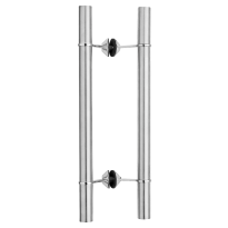 GPF35 deurgreep T-model 32x20x500mm RVS geborsteld met RVS gepolijst