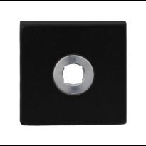 GPF8100.02R rozet 50x50x8mm zwart rechtsdraaiend