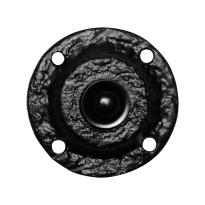 KP0751 landelijke deurbel rond 58 mm smeedijzer zwart