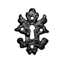 KP1064 sleutelrozet 82x60mm smeedijzer zwart
