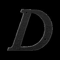 Landelijke huisnummer letter 'D', 101 mm