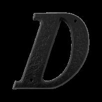 Landelijke huisnummer letter 'D', 152 mm