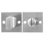 GPF0910.08 toiletgarnituur 50x50x2mm stift 8mm RVS geborsteld