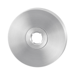 GPF1100.05 rozet 50x6mm RVS geborsteld