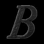 Landelijke huisnummer letter 'B', 101 mm