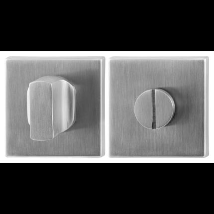 GPF0911.02 toiletgarnituur 50x50x8mm stift 5mm RVS geborsteld