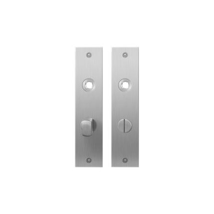 GPF1100.16 plaatschild rechthoekig WC57/5 normale knop RVS geborsteld