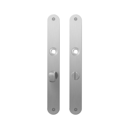 GPF1100.23 plaatschild afgerond WC57/5 normale knop RVS geborsteld