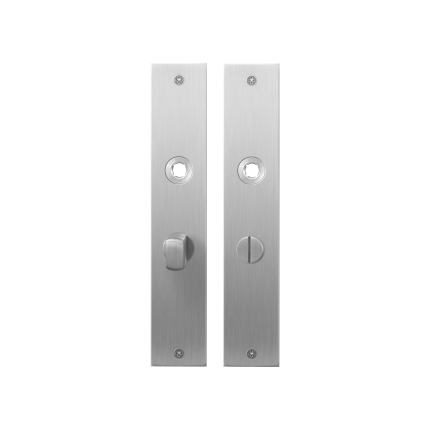 GPF1100.26 plaatschild rechthoekig WC55/8 normale knop RVS geborsteld