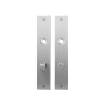 GPF1100.26 plaatschild rechthoekig WC72/8 normale knop RVS geborsteld