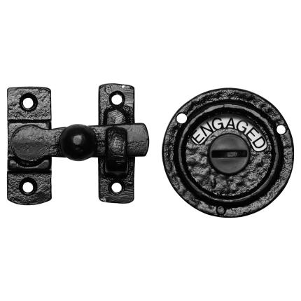 KP1150 toiletgarnituur 70x65mm smeedijzer zwart