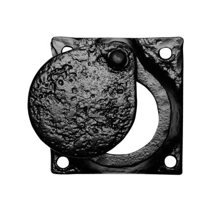 KP1498 cilinderrozet 58x58mm smeedijzer zwart