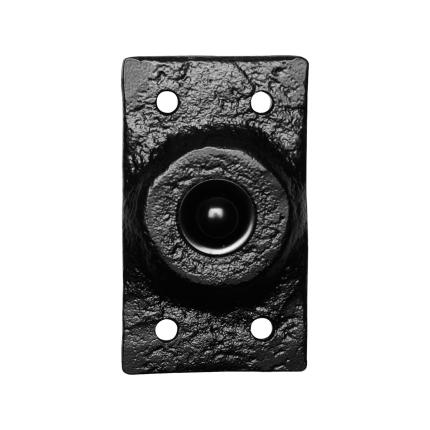 KP4748 deurbel landelijk rechthoekig 45x78 mm smeedijzer zwart