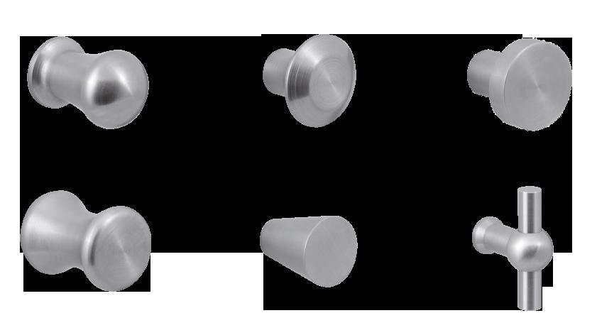 Diverse GPF meubelknoppen in RVS