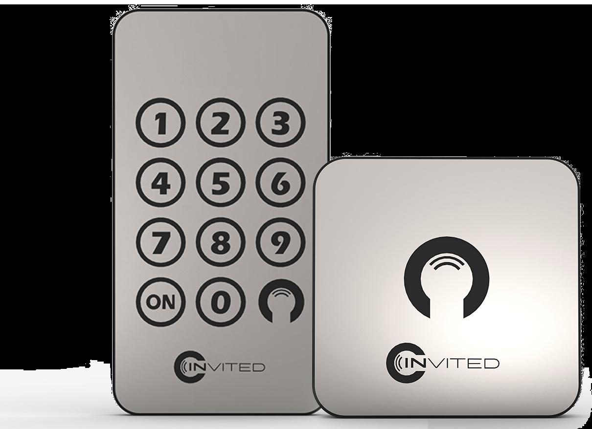 Met een Invited keypad en wandschakelaar bedient u het elektronische deurslot Invited eenvoudig