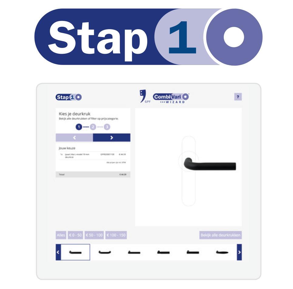 GPF CombiVari stap 1: kies uw deurkruk